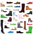 Women shoes isolated collection of various types vector image