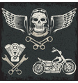 Biker Theme Label Set vector image