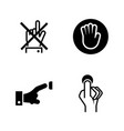 buttons simple related icons vector image
