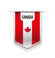 Canada flag ribbon vector image