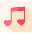 Heart shaped sheet music vector image