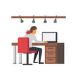 neck pain office syndrome vector image