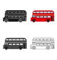 passenger bus single icon in cartoonoutlineblack vector image