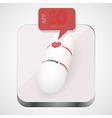 Pill app icon vector image
