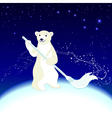 Polar Bear cleans ecology in the Arctic vector image
