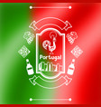 portugal background design portuguese national vector image