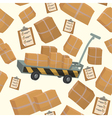 Seamless Pattern with Boxes and Containers vector image