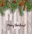 Sketch Christmas cards vector image