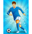 Soccer Player Dribble a Ball vector image