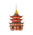 traditional japanese chinese asian pagoda vector image