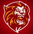lion red head logo 10092016 vector image vector image