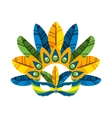 carnival mask tropical icon vector image