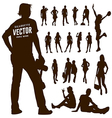 Silhouette Motion people background vector image vector image