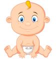 Baby boy cartoon vector image vector image