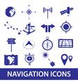 navigation icons set eps10 vector image