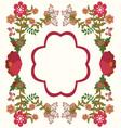 flower frame background vintage vector image