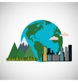 Graphic design of pollution vector image