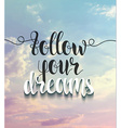 Background with realistic clouds and calligraphic vector image
