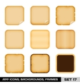 Set Of Colorful App Icon Frames Templates vector image