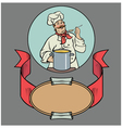 smiling chef with soup vector image