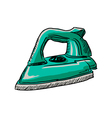 steam iron vector image