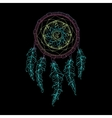 Indian Dream catcher black background and vector image