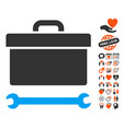 toolbox icon with dating bonus vector image