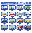 urban transports map sign set vector image