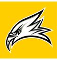 eagle head tattoo design vector image vector image