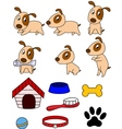 dog cartoon and stuff vector image vector image