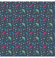 Rain drops and umbrella seamless pattern vector image