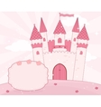 Cartoon fairy tale castle background vector image