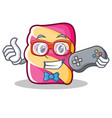 gamer marshmallow character cartoon style vector image