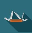 multifunctional pocket knife icon flat design of vector image