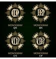 Vintage Monograms - 4 sets - monograms series vector image