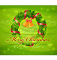 christmas ornament holy wreath 10 SS v vector image vector image