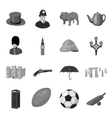 England country set icons in monochrome style Big vector image