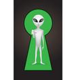 keyhole alien vector image