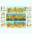 colorful playground infographic concept vector image