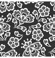 Old lace seamless pattern ornamental flowers vector image