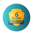 Six Months Warranty circle icon vector image