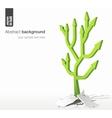 Arrows tree - growth success concept vector image