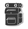 Camping backpack sleeping icon vector image