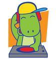 DJ Dinosaur vector image