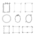 Hand Drawn Frames Set 2 vector image