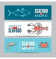Seafood banners set vector image