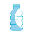 silhouette water plastic bottle to drink and vector image