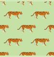 tiger action wildlife animal danger mammal vector image