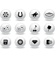 Web buttons Las Vegas icons vector image