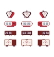 Set of retro alarm clocks vector image